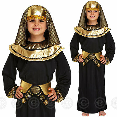BOYS EGYPTIAN PHARAOH FANCY DRESS COSTUME OUTFIT EGYPT CHILDS KIDS HISTORIC 8 11