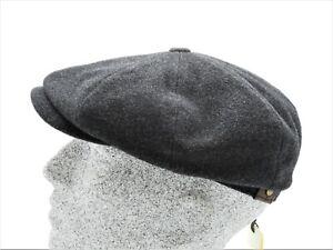 Winterm/ütze mit Schurwolle Atmungsaktive Schirmm/ütze mit Futter aus Baumwolle Stetson Classic Flatcap mit Kaschmir Herren M/ütze Herbst//Winter Wollcap mit Schirm