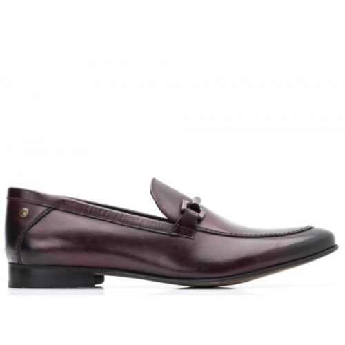 Base London SOPRANO Mens Washed Leather Formal Evening Smart Loafers Shoes