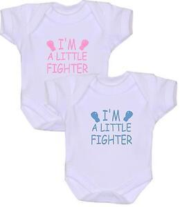 d2fbfde07 Image is loading BabyPrem-Premature-Baby-Clothes-LITTLE-FIGHTER-Bodysuit- Vest-