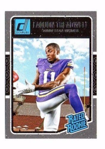 football card!!! Rookie #383 Laquon Treadwell, 2016 PANINI DONRUSS