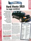Ford Fiesta XR2i Coupe 4 Cyl. 1989 Germany UK USA Car Auto Voiture FICHE FRANCE