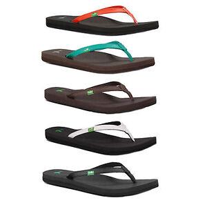 4af5ecc8d7a2f0 Image is loading Sanuk-Yoga-Joy-Flip-Flops-Sandals-RRP-24-
