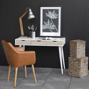 design schreibtisch viborg weiss mit 3 schubladen in. Black Bedroom Furniture Sets. Home Design Ideas