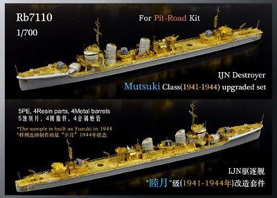 1941-1944 Rainbow PE 1//700 IJN Destroyer Mutsuki Class upgraded set Rb7110
