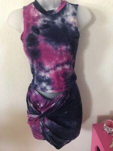 m Gonna Tie Purple S Festival Burning Dye l corta Set 88xrnPfq