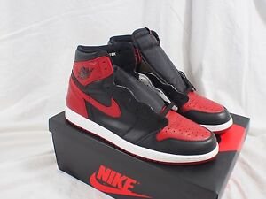 cheap for discount b7cad f516f Image is loading Nike-Air-Jordan-1-High-OG-Retro-Banned-