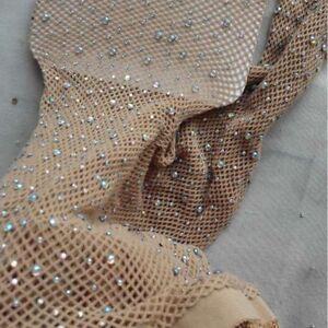 Fashion-Women-Crystal-Mesh-Fishnet-Net-Pattern-Pantyhose-Tights-Stockings-Socks