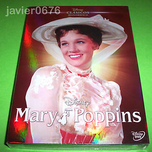 MARY POPPINS CLASICO DISNEY HONORIFICO DVD NUEVO Y PRECINTADO SLIPCOVER