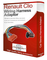 Renault Clio CD radio stereo wiring harness adapter lead loom ISO converter wire