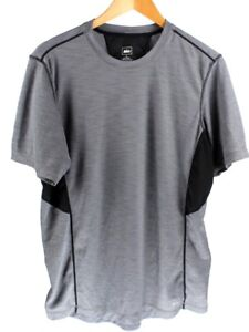 REI-Mens-Short-Sleeve-Active-Wear-Gray-and-Black-Size-Large