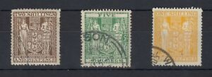 New-Zealand-1931-35-Arms-Collection-of-3-VFU-J186