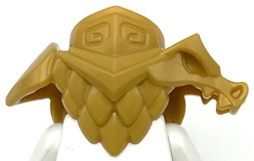 Lego New Pearl Gold Minifigure Armor Breastplate with Shoulder Pads Dragon