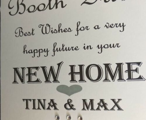 Handmade Personalised New Home Card 1st Home Card Any Name Address Can Be Added
