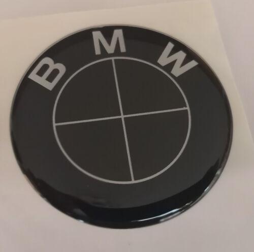 1 Adesivo Resinato Sticker 3D BMW 30 mm  NERO SILVER