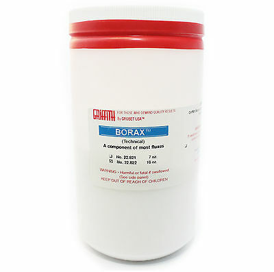 BORAX FLUX POWDER 16 Oz (1 Lb) JEWELRY CASTING, SOLDERING, OXIDATION METAL TOOL