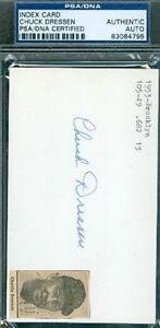 Chuck-Dressen-Autograph-3x5-Index-Card-Signed-Psa-dna-Authentic