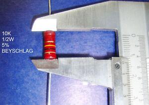 VINTAGE-BEYSCHLAG-RESISTOR-1-2W-10K-5-1-PC-NEW-New-Old-Stock