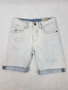 b7684b73 Details about Zara Kids 4-5 Denim Shorts Light Wash Distressed Boys Girls