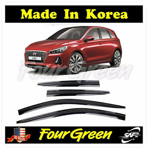 Kyoungdong Window Visors Wind Deflector Rain Guards 4p for 2019 2020 Hyundai Elantra 4door Sedan