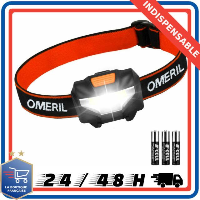 Lampe Torche Frontale Puissante Rechargeable Projecteur étanche Camping Running