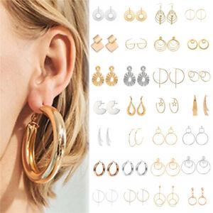 Women-Bohemian-Popular-Geometric-Round-Circle-Dangle-Drop-Hook-Stud-Earrings