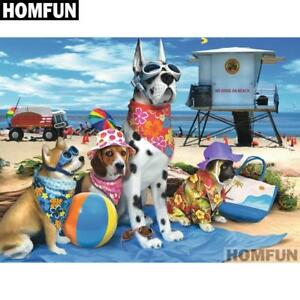 5D Diamond Painting Dog Beach Kit