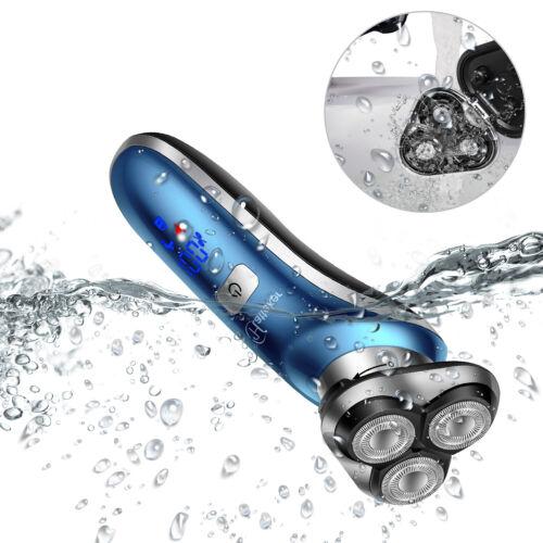 Hatteker 4 IN 1 Herren Eletrischer Rasierer für Männer LED Display Blau