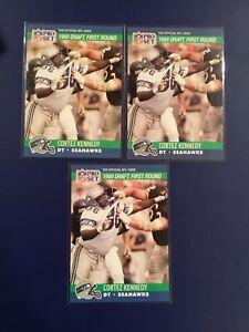 1990-Pro-Set-671-CORTEZ-KENNEDY-Rookie-Lot-3-Seattle-Seahawks-HOF-LOOK