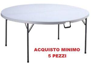 Tavoli Pieghevoli Plastica Per Catering.Tavolino Tavolo Pieghevole Rotondo In Resina Metallo Catering