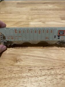 Athearn-HO-Scale-1900-55-Ft-Center-Flow-Hopper-Burlington-Northern-CB-amp-Q-Mint