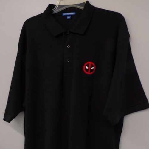 LT-4XLT  New Dead Pool Marvel Comics Mens Embroidered Collectible Polo XS-6XL