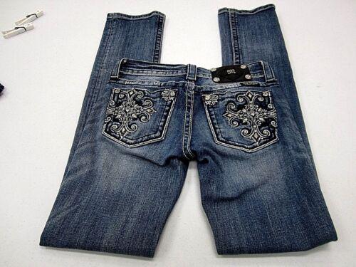 con Jp5361t Miss borchie Med Jeans borchie Me dritta Wash Mint strass Sz25x32 gamba afTzw