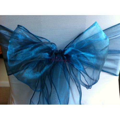 Organza chair sashes Essence Bleu
