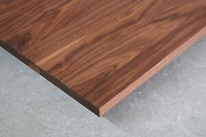 Tischplatte Platte Nussbaum Massiv Holz Tisch Brett Leimholz