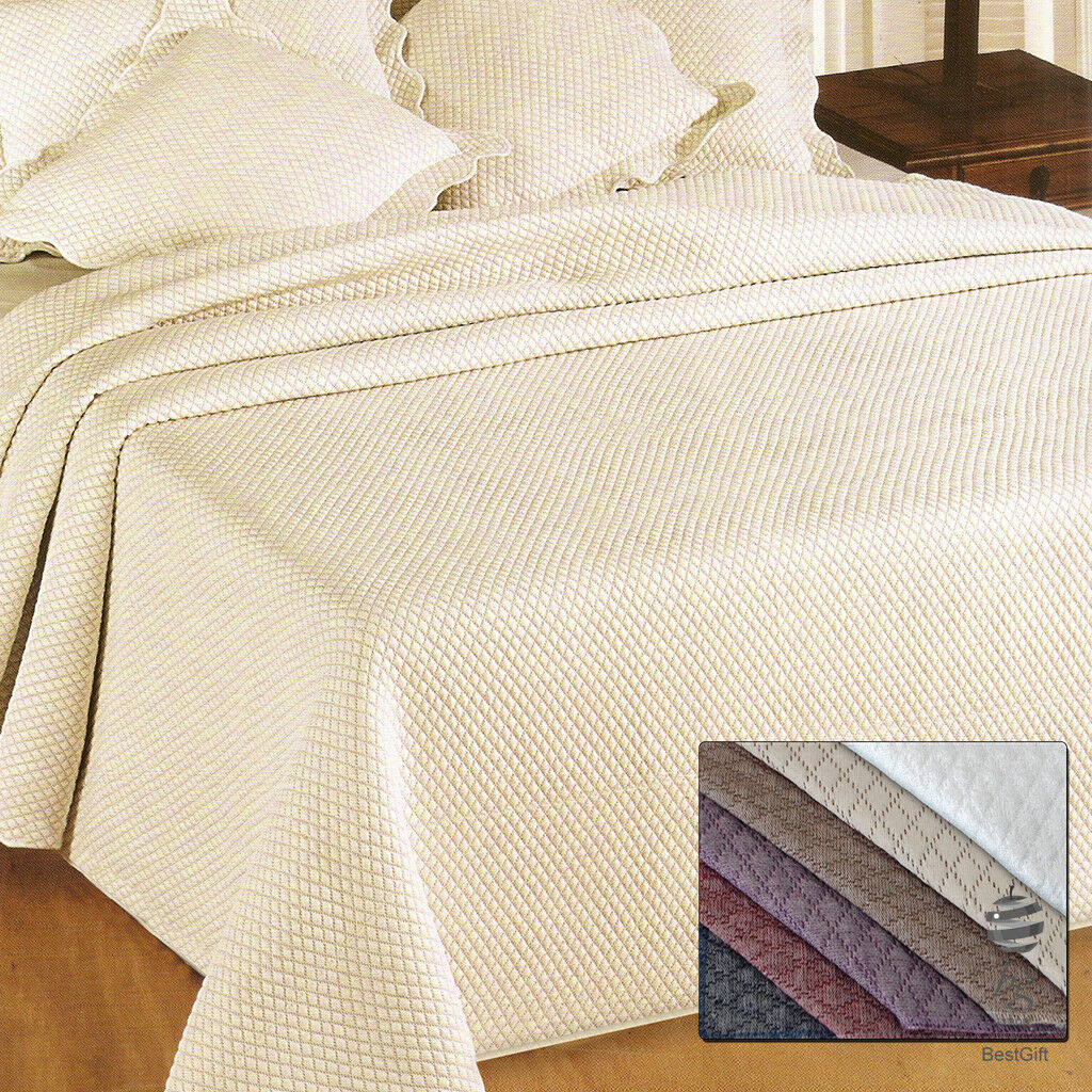 LUXURY TOP QUALITY BEDSPREAD - REF. DELI – SINGLE – DOUBLE – VARIOUS COLORS
