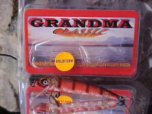 "3/"" Grandma Classic Lure Cast//Troll HOLOFORM Lure G3H-38 in HOLO CLOWN for Bass"