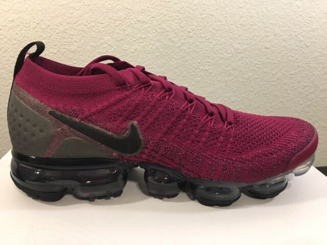 innovative design f52d4 f8902 Nike Women's Air Vapormax Flyknit 2 Raspberry Red Black Shoes 942843-603  Size 8