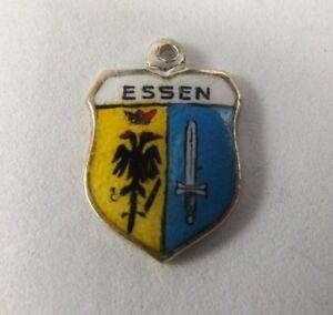 Essen  Germany 800 Silver Vintage European Travel Bracelet Charm - Driffield, United Kingdom - Essen  Germany 800 Silver Vintage European Travel Bracelet Charm - Driffield, United Kingdom