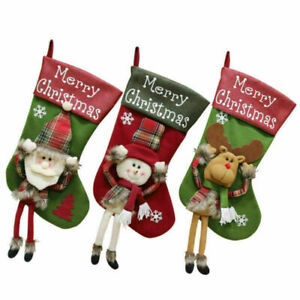 Luxury Christmas Stockings Uk.Details About Luxury Christmas Stocking Socks Sack Deluxe Xmas Santa Snowman Reindeer Cute Uk