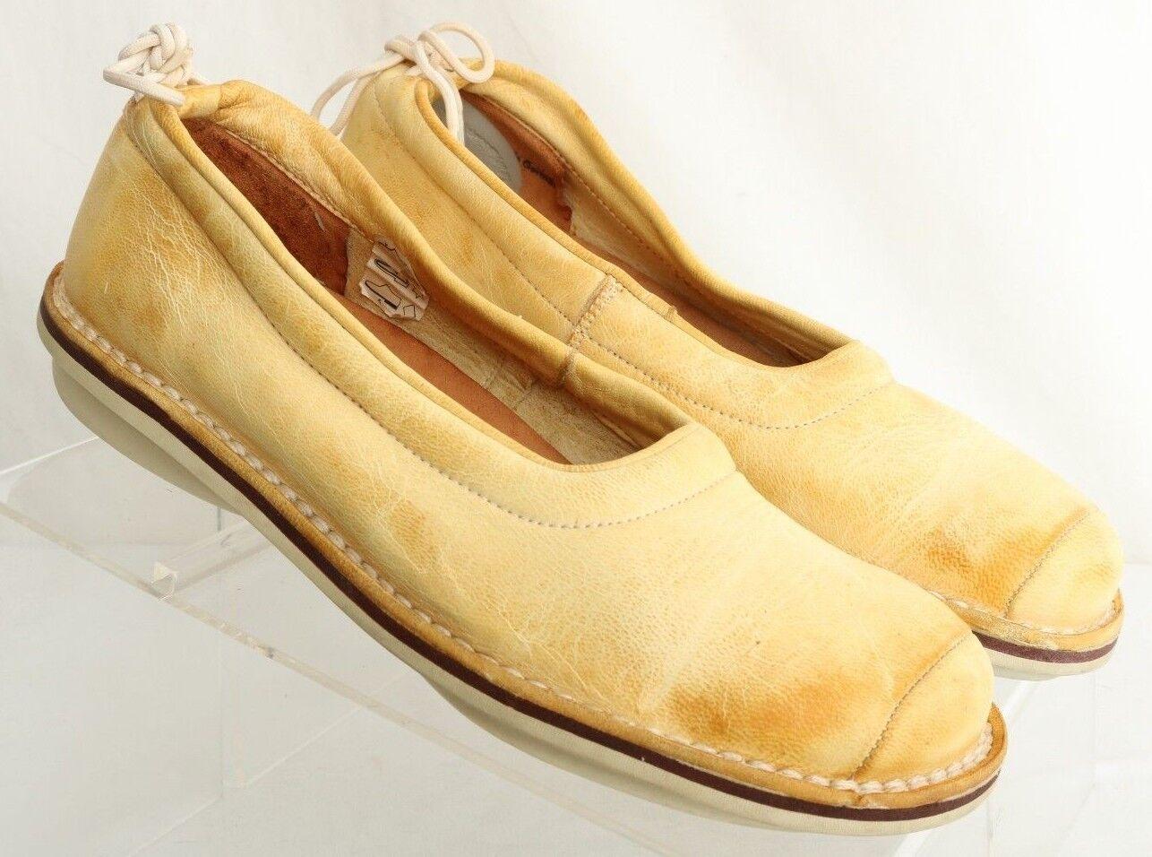 TRIPPEN 2621 effet vieilli jaune talon Cravate Ballerines Femme Euro 37 (US 6.5)