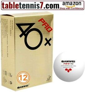 + 12 Balls Sanwei ABS Pro 40+ Ping Pong Ball | ITTF APPROVED Professional Table Tennis Balls + Ontario Preview