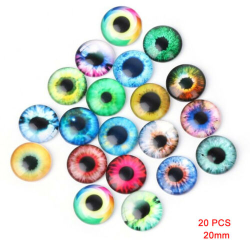 20PCS.3Size Glass Eyes Kit For Needle Sewing Felting Bear DIY Doll Craft Colored