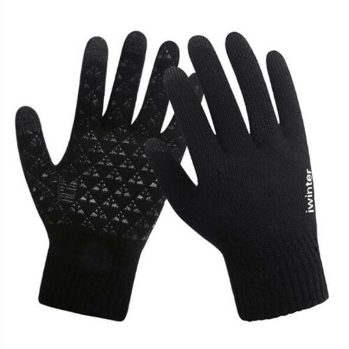 1 Pair Winter Warm Fleece Lined Thermal Knitted Gloves Touchscreen Men/'s Male TR
