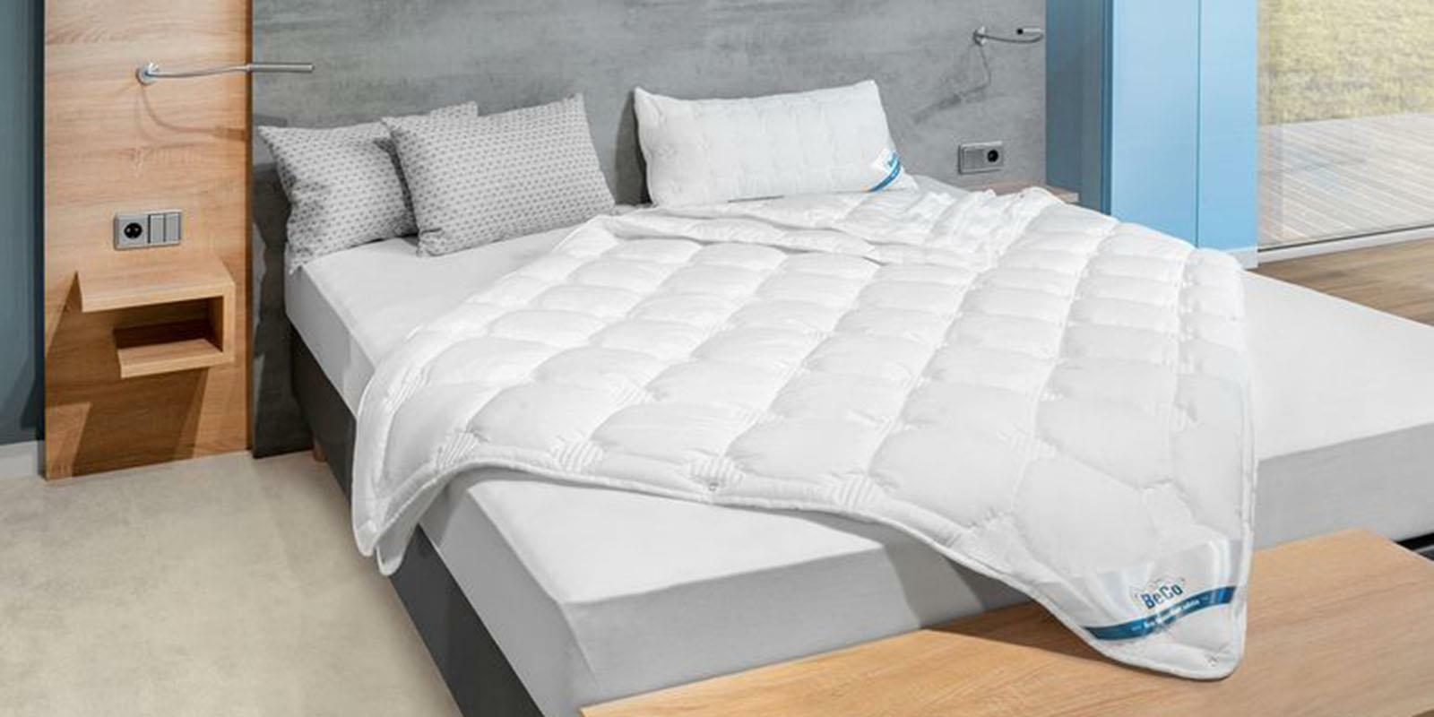 BeCo Vierjahreszeiten-Bettdecke 155 x 220 cm Medibett Cotton Soft Schlafdecke