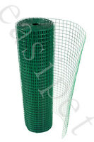 """PVC Coated Welded Wire Mesh 1"""" x 1"""" x 30m long Aviary Hutches Coop 19g 3 width"""