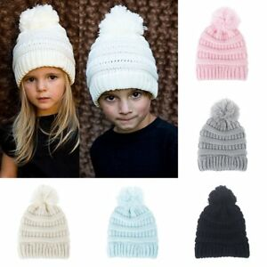 Toddler Kids Girl&Boy Baby Infant Child Winter Warm Crochet Knit Hat Beanie Cap