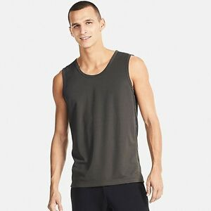 3735987dab220e UNIQLO Dry-Ex Sleeveless T-Shirt   Tank Top Men s M Dark Gray ...