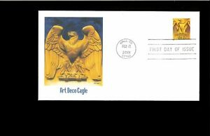 2001-First-day-Cover-Art-Deco-Eagle-Wall-SD