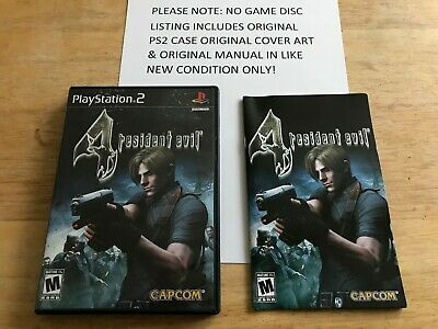 Resident Evil 4 Playstation 2 Ps2 Original Case Cover Art Manual